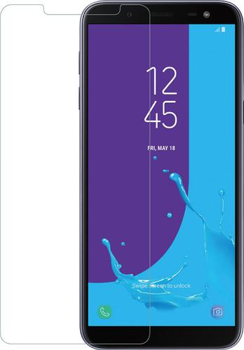 Azuri Verre Trempé Samsung Galaxy J6 (2018) Protège-écran Verre Noir Main Image