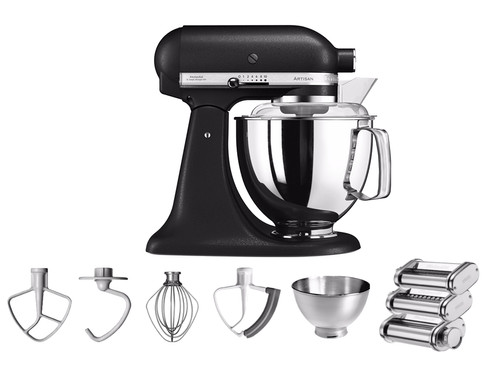 KitchenAid Artisan Mixer 5KSM175PS Vulkaanzwart + Pastarollerset Main Image