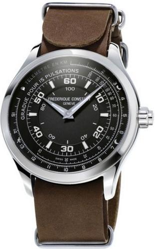Frederique Constant Horological Chronograph Black/Brown Main Image