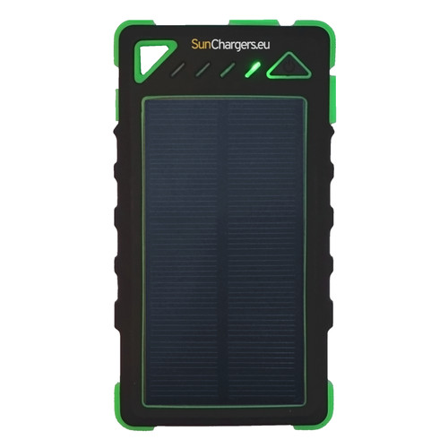 SunChargers Smart Solar Power Bank 8,000mAh Green Main Image