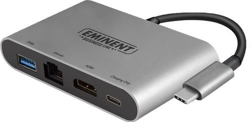 Eminent Usb C naar HDMI, Usb A en Ethernet Converter Main Image