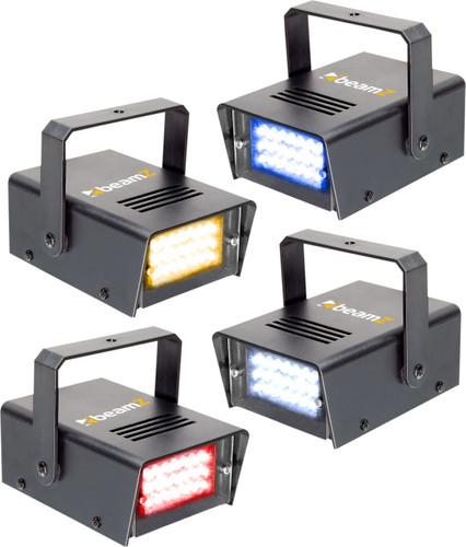 Beamz LED Mini Strobe Set 4pcs. W/R/Y/B Main Image