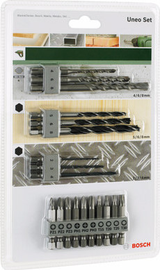 Bosch Set d'accessoires Uneo SDS-Quick 19 pièces Main Image