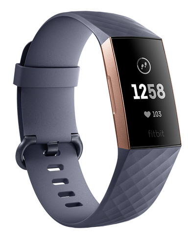 Fitbit Charge 3 Blue Grey/Rose Gold Aluminium Main Image