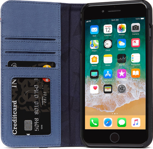 official photos abbf4 6a36c Decoded Leather Wallet Case iPhone 8 Plus / 7Plus Blue