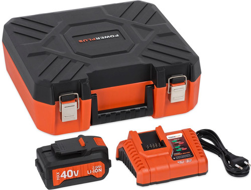 Powerplus Dual Power Acculader + Accu 40V 2,0 Ah Li-Ion Main Image