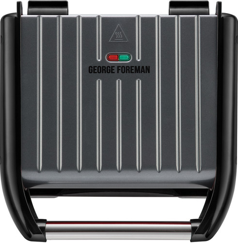George Foreman Steel Grill Family Grijs Main Image