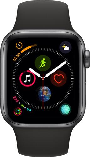 Apple Watch Series 4 40mm Space Gray Aluminum/Black Sport Band Main Image