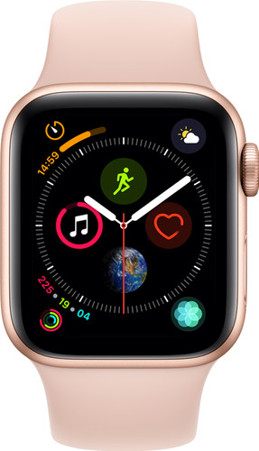 Apple Watch Series 4 40mm Gold Aluminum/Pink Sand Sport Band Main Image