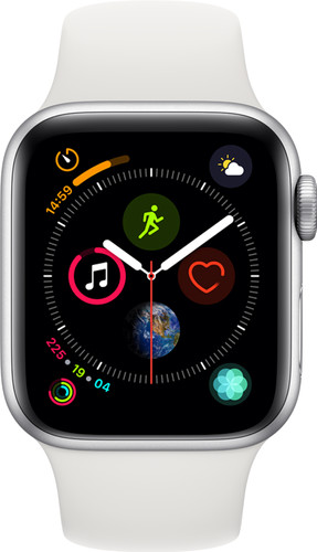 Apple Watch Series 4 40mm Silver Aluminum/White Sport Band Main Image