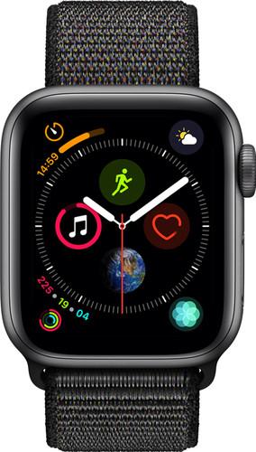 Apple Watch Series 4 40mm Space Gray Aluminium/Zwarte Nylon Sportband Main Image