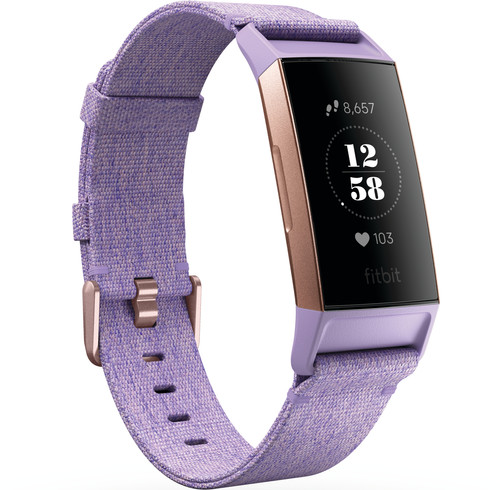 Fitbit Charge 3 Special Edition Lavender Aluminium Main Image
