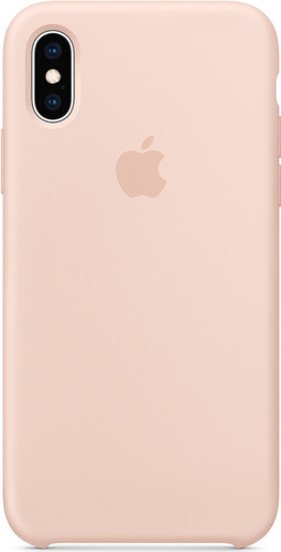 Apple iPhone Xs Silicone Case Pink Sand Main Image