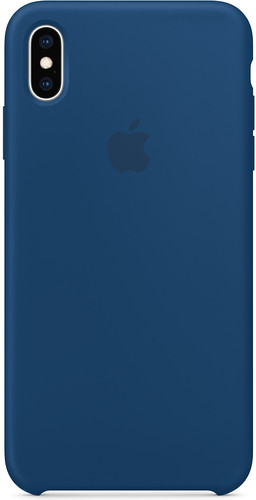coque iphone xs apple silicone bleu
