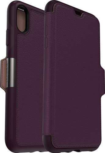online retailer d0f94 fe6de Otterbox Strada Apple iPhone Xs Max Book Case Purple