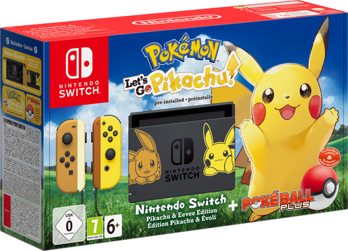 Nintendo Switch Pokémon Let's Go Pikachu Bundle Main Image