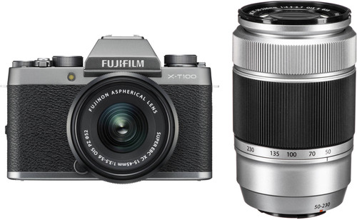 Fujifilm X-T100 Zilver + XC 15-45mm OIS PZ + XC 50-230mm OIS Main Image