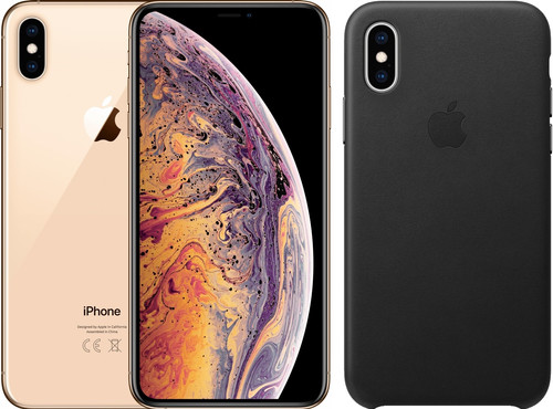 Apple iPhone Xs Max 256 Go Or + Back Cover Cuir