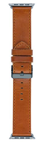 DBramante1928 Copenhagen Apple Watch 42mm Leather Watchband Dark Brown / Black Main Image