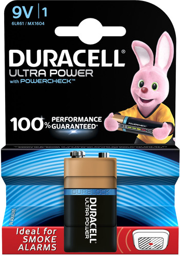 Duracell Ultra Power Pile alcaline 9 V 1 pièce Main Image