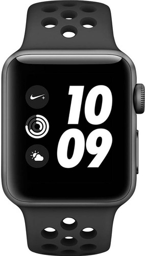 Apple Watch Series 3 Nike+ 38mm Space Grey Aluminium/Zwart Main Image