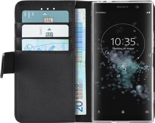 timeless design a9141 7d775 Azuri Wallet Magnet Sony Xperia XA2 Plus Book Case Black