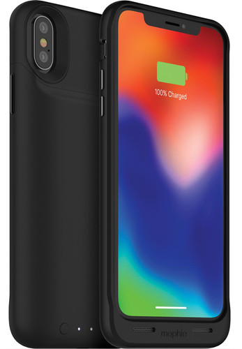huge discount 0c359 c9670 Mophie Juice Pack Air iPhone X Back Cover Black