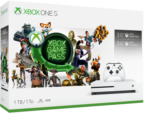 Xbox One S 1 TB Bundle Game Pass Main Image