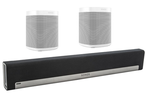 Sonos Playbar 5.0 + One (x2) White Main Image