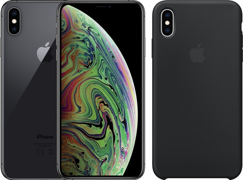 Apple iPhone Xs Max 64 Go Gris sidéral + Back Cover Silicone