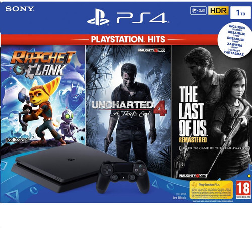 Sony PS4 Slim 1 TB PlayStation Hits bundel (3 games) Main Image