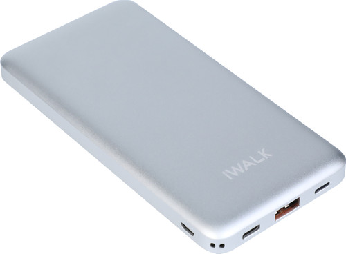 iWalk Chic Powerbank 10.000 mAh met Quick Charge 3.0 + Power Delivery 2.0 Zilver Main Image