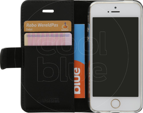 Valenta Booklet Classic Luxe Apple iPhone 5/5S/SE Black Main Image
