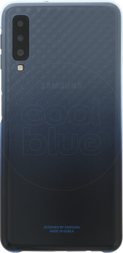 check out 8c769 dd9f2 Samsung Galaxy A7 (2018) Gradation Clear Back Cover Blue