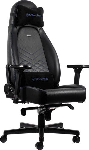 Noblechairs ICON Gaming Chair Black/Blue Main Image