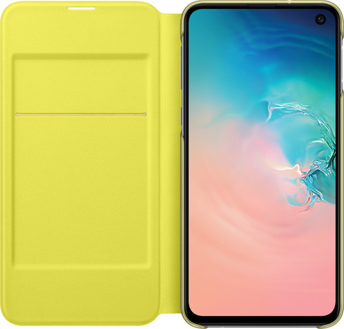 competitive price 21504 f735f Samsung Galaxy S10e LED View Case Cover White/Yellow