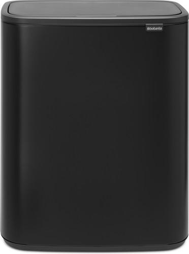 Brabantia Touch Bin 30 Liter Zwart.Brabantia Bo Touch Bin 2 X 30 Liter Mat Zwart
