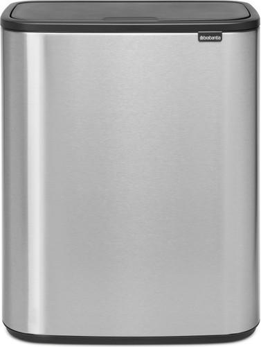 Brabantia Touch Bin 50 Liter Wit.Brabantia Bo Touch Bin 60 Liters Steel Fingerprint Proof