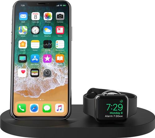 Belkin Boost Up Draadloze Oplader met USB A Poort iPhone/Apple Watch Zwart Main Image