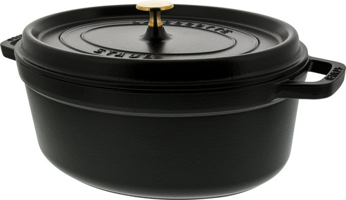 Staub Cocotte Ovale 31 cm Noir Main Image