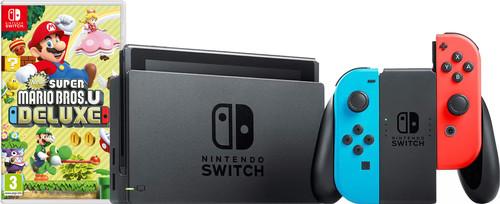 Nintendo Switch Red/Blue New Super Mario Bros. U Bundle Main Image