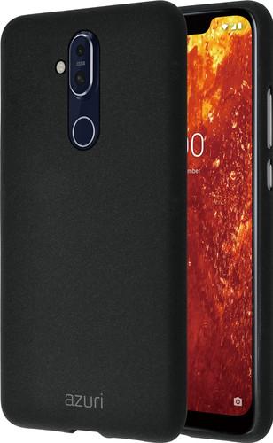 Azuri Flexible Sand Nokia 8.1 Back Cover Zwart Main Image