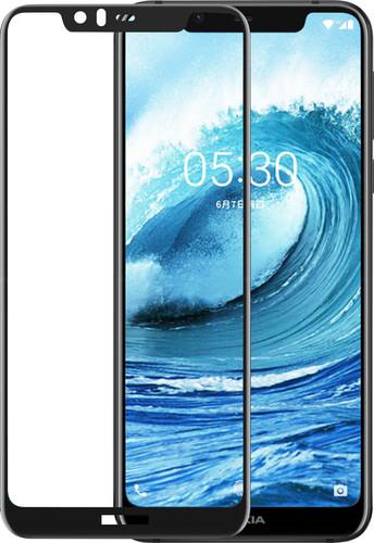Azuri Protège-écran en Verre trempé Nokia 5.1 Plus Noir Main Image