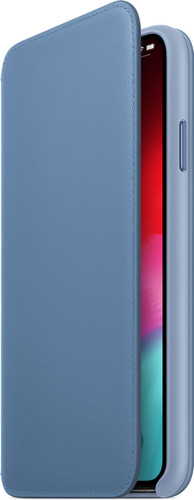 Apple iPhone Xs Max Coque à rabat folio en Cuir Bleuet Main Image