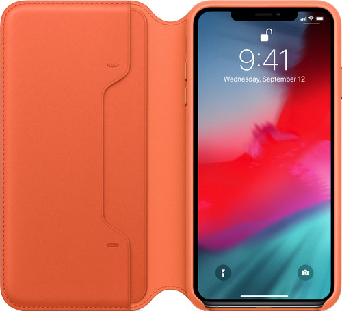Apple iPhone Xs Max Leather Folio Zonsondergang Main Image
