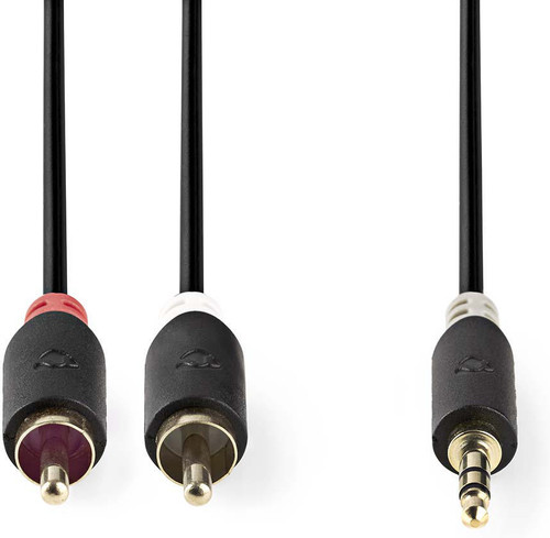 Nedis 3.5 mm to RCA Cable 5 Meter Gray Main Image