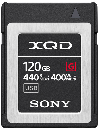 Sony XQD G 120 Go High Speed R440 W400 Main Image