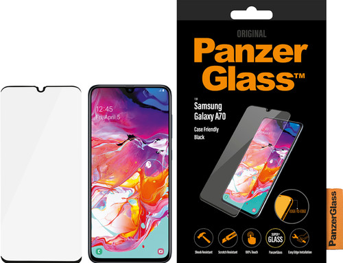 PanzerGlass Case Friendly Samsung Galaxy A70 Screen Protector Glass Black Main Image