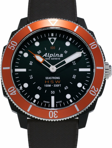 Alpina Seastrong Horological Hybrid Zwart/Oranje Main Image