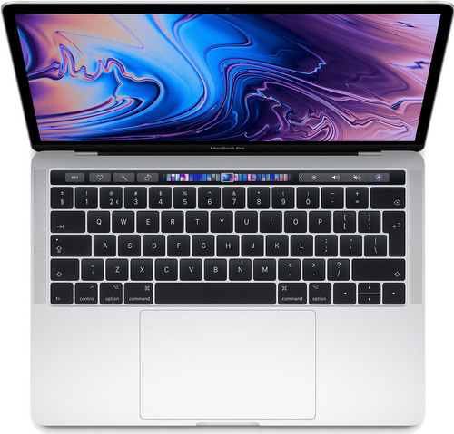 "Apple MacBook Pro 13"" Touch Bar (2019) MUHR2FN/A Zilver Azerty Main Image"